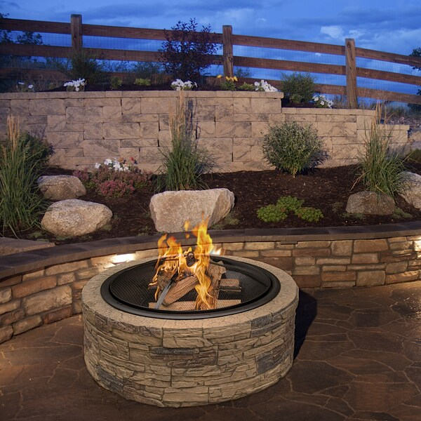 """35 Cool Outdoor Deck Designs: Cast Stone Fire Pit 35"""" Patio Outdoor Yard Bowl Chiminea"""