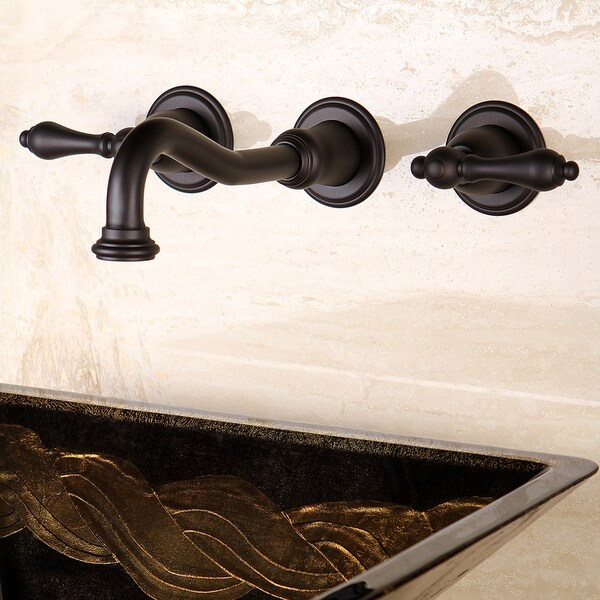 Wall Mount Oil Rubbed Bronze Vessel Bathroom Faucet