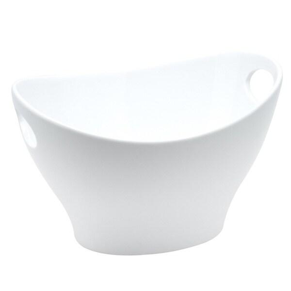 Red Vanilla Fare Deep Handled Bowl