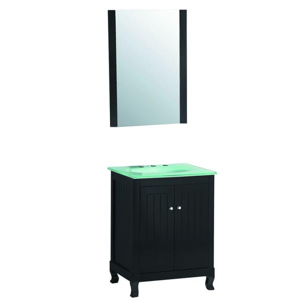 Bathroom Vanity 24 Inches Wide: 24-inch Wide Single Sink Bathroom Vanity In Black