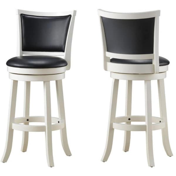 Cabot Solid Wood Swivel Counter Stool (Set Of 2