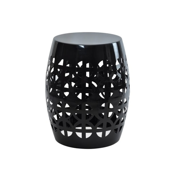 Artisan Black Garden Stool Side Table 16788542