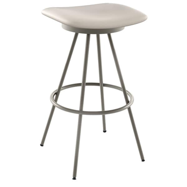 Amisco Beacon 26 Inch Metal Swivel Counter Stool