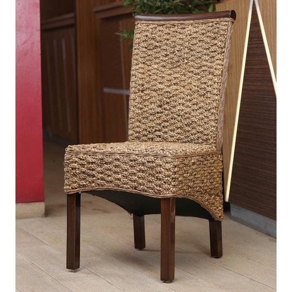 International Caravan Bunga Hyacinth Dining Chair With