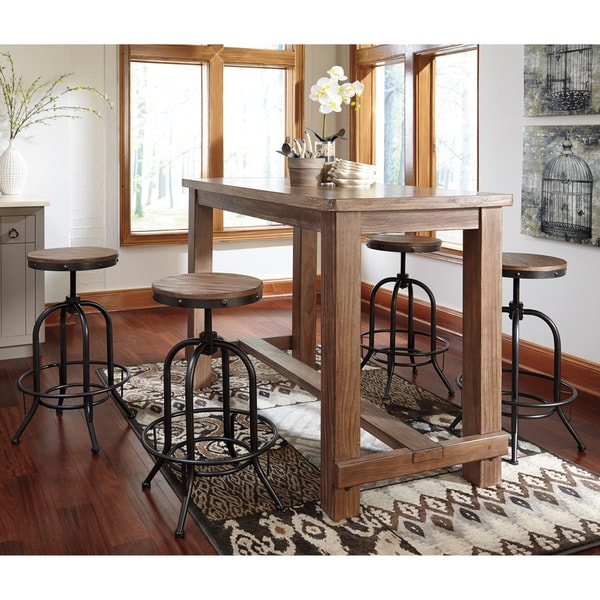 Signature Design By Ashley Pinnadel 5 Piece Bar Set With