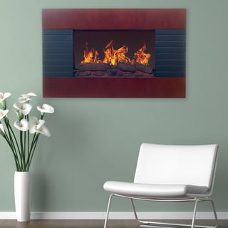 Teva Arch Top Wall Mount Fireplace Overstock Shopping