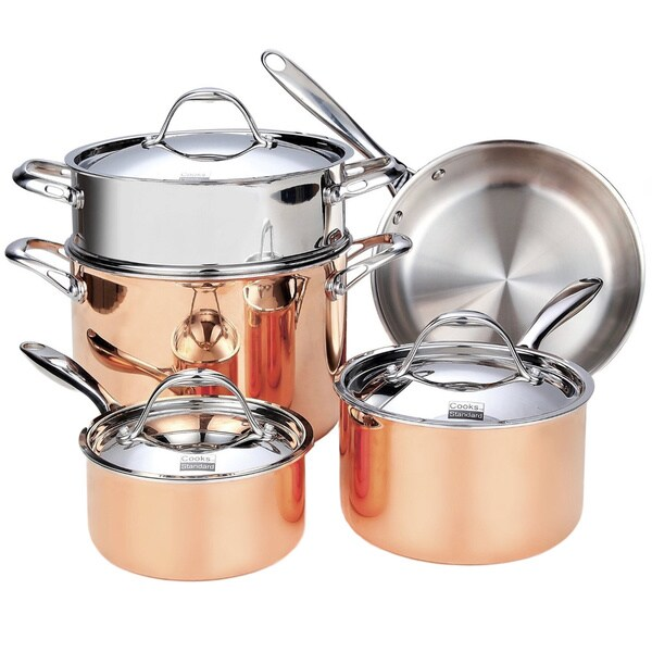 Cooks Standard Nc 00389 8 Piece Multi Ply Clad Copper