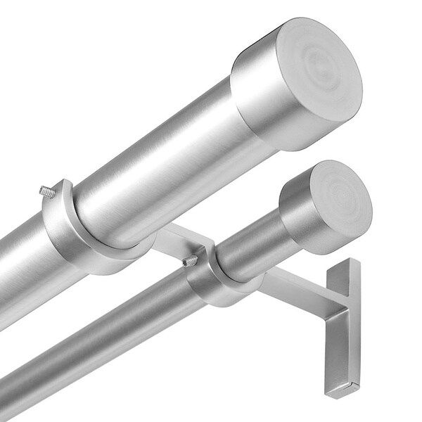 Umbra Cappa Nickel Double Curtain Rod 16795447