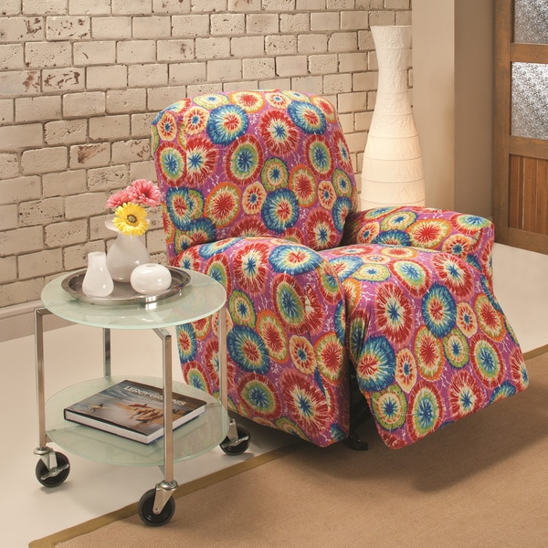 Dying Sofa Covers: Stretch Jersey Tie-dye Large Recliner Slipcover