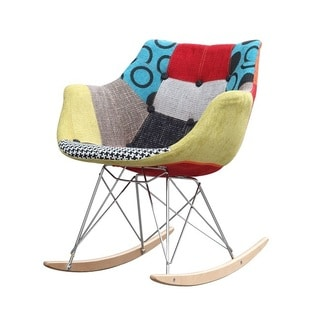 Kelsey Button Patchwork Upholstered Accent Chair