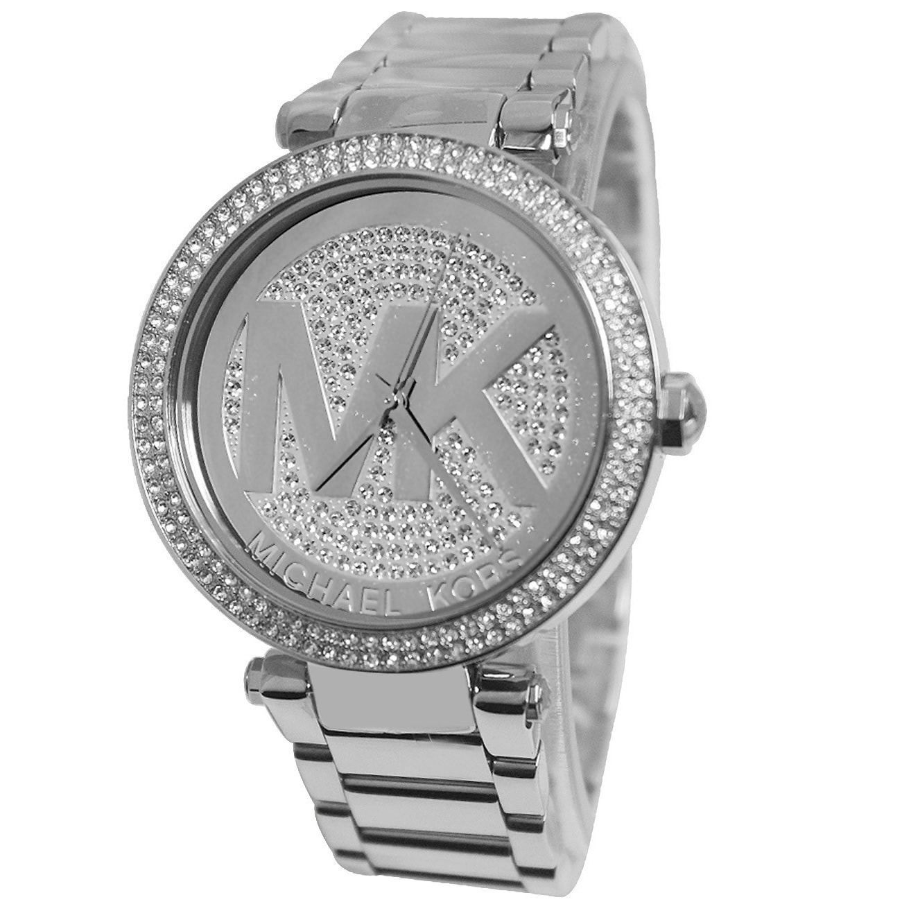 5c50da416f5d 1Cheap Michael Kors Women s Parker MK5925 Silver Stainless-Steel ...