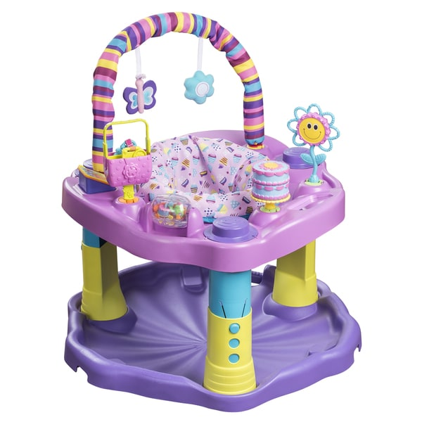 132a3c862 Evenflo ExerSaucer Bounce and Learn Sweet Tea Party 16799084 on ...