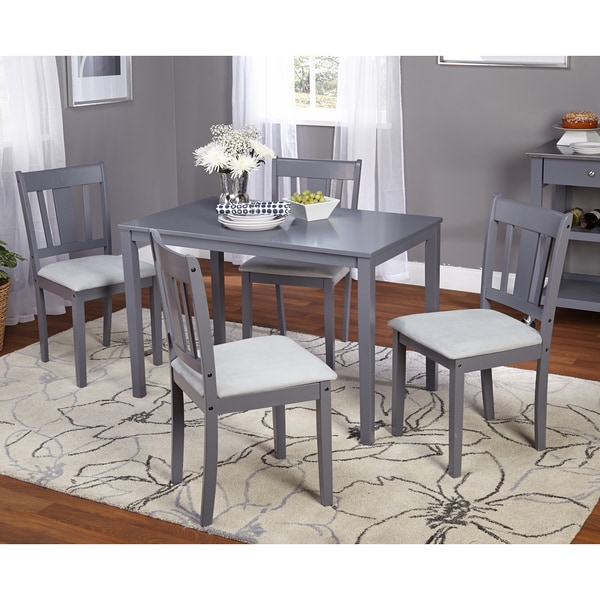 Modern 5pc Dining Table Set Kitchen Dinette Chairs: 5 Pc Dining Set Kitchen Table & Chairs Dinner Seats Chairs