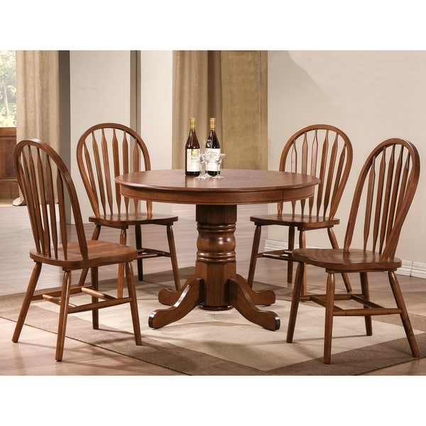 Country Style Dining Set: Fallsburg Windsor Country Style 5-piece Dining Set