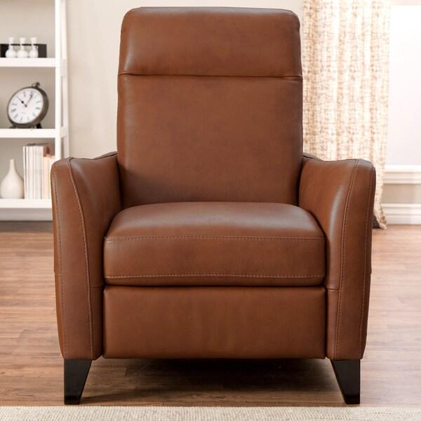 Natuzzi Dallas Tan Italian Leather Recliner 16802164