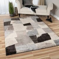 Carolina Weavers Grand Comfort Collection Barricade Gray Shag Area Rug