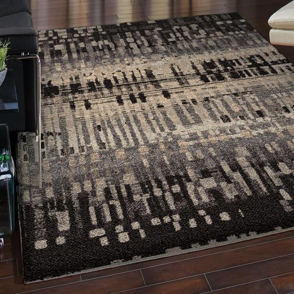 Cosmopolitan Collection Claybourne Black Olefin Area Rug