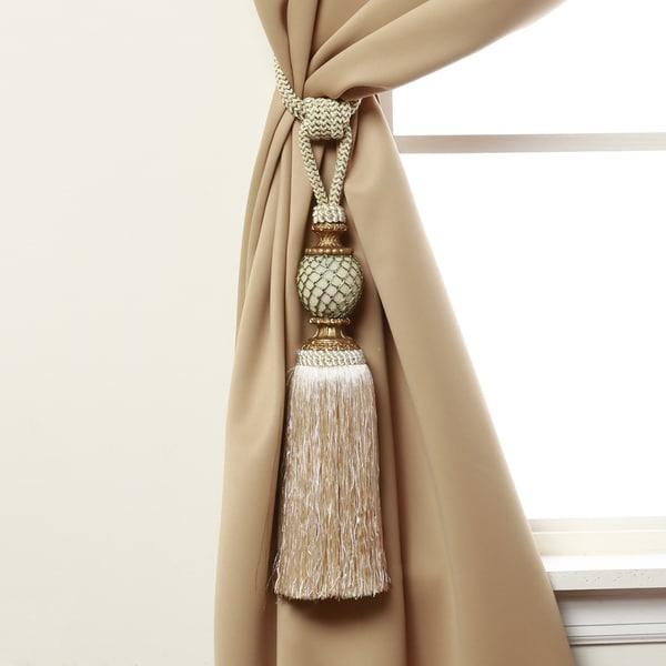 Aurora Home Bella Tassel Curtain Tie Back Pair