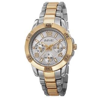 August Steiner Men's Quartz Colorful Dial Multifunction Two-Tone Bracelet Watch