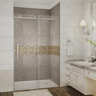 Vigo 48 Inch Clear Glass Frameless Sliding Shower Door