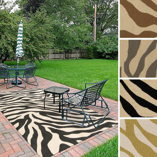 Hand Woven Zebra Rayon From Bamboo Rug 5 X 8