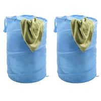 Windsor Home Pop-up Zipper Top Breathable Laundry Hamper (Set of 2)