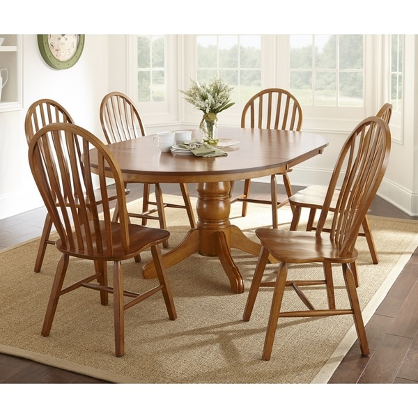 Overstock Dining Set: Greyson Living Springdale 7-piece Oak Dining Set