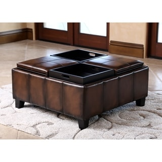 Christopher Knight Home Mason Bonded Leather Espresso Tray