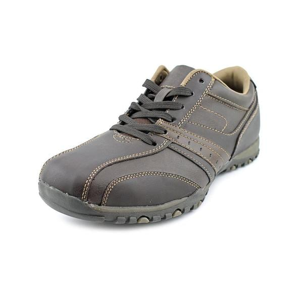 Famous Name Brand Men's 'Cayden' Faux Leather Athletic