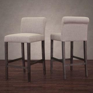 Patterson Beige Linen Barstools Set Of 2 15937257