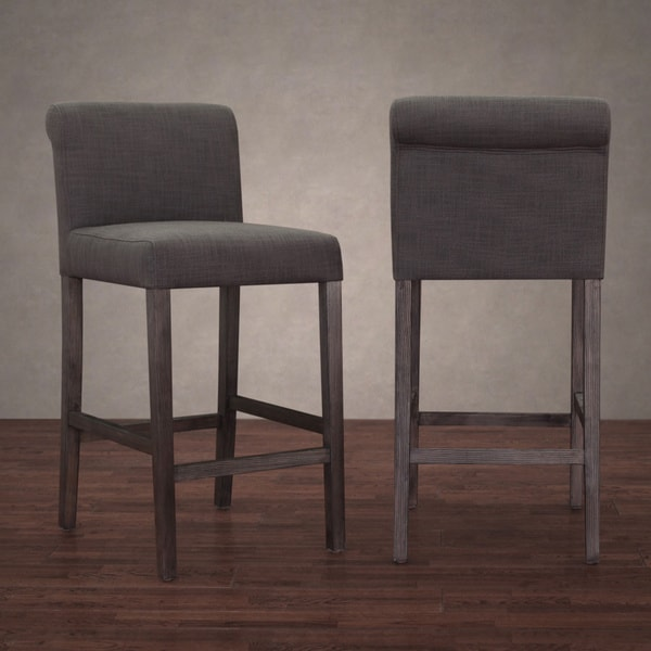 Counter Stools Overstock: Cosmopolitan Smoke Linen Counter Stool (Set Of 2