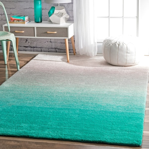 Nuloom Handmade Soft And Plush Ombre Shag Rug 5 X 8