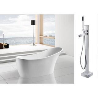 Fusion Freestanding 59 Inch Acrylic Bathtub 16467059