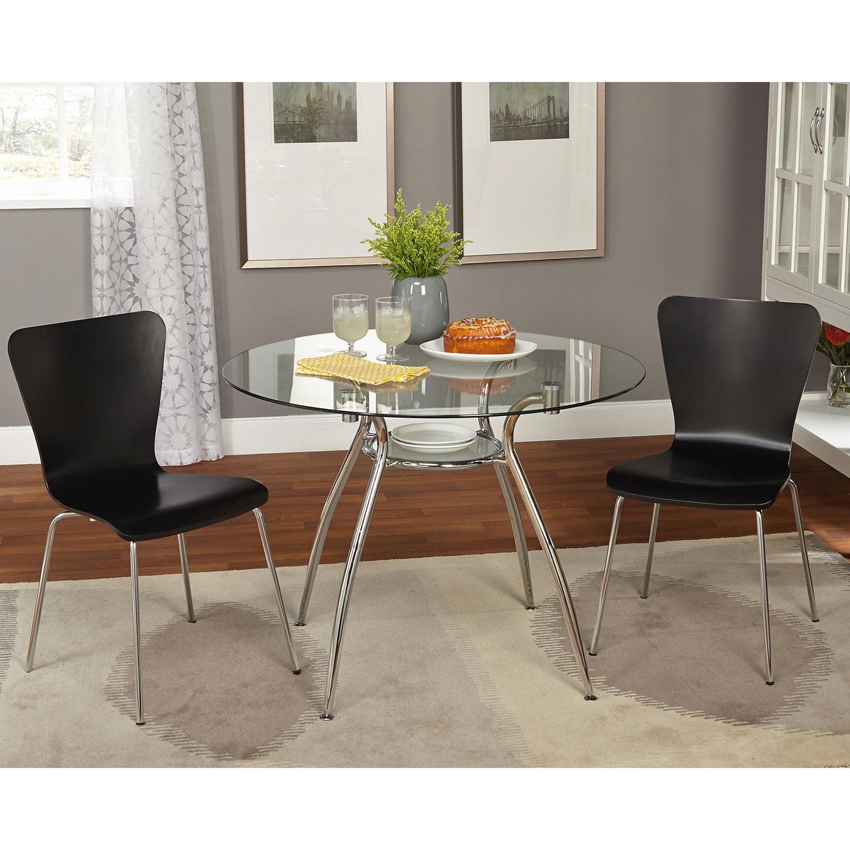 Simple Minimalist Dining Set: Simple Living 3-piece Itza Dining Set