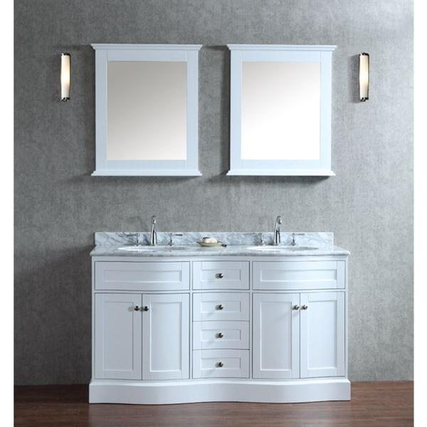 Montauk 60 inch double sink bathroom vanity set - 60 inch bathroom vanities double sink ...