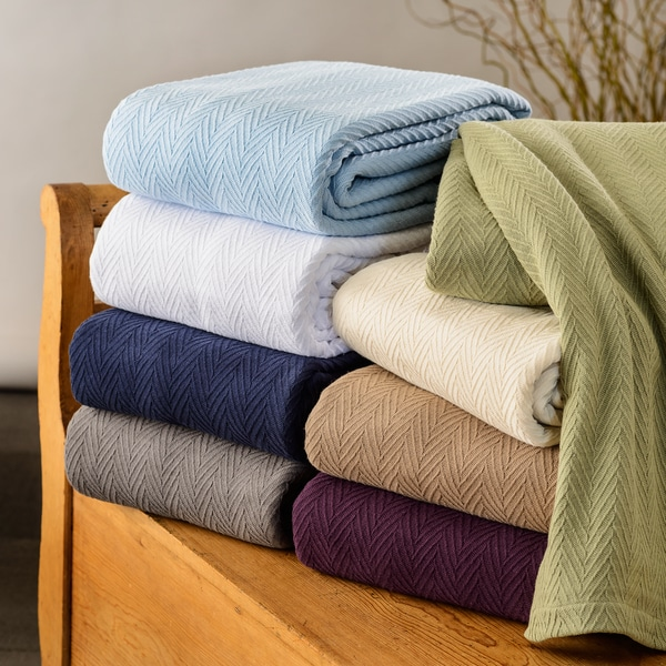 All Season Luxurious 100 Percent Cotton Metro Blanket