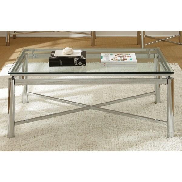 Natal Chrome And Glass Coffee Table