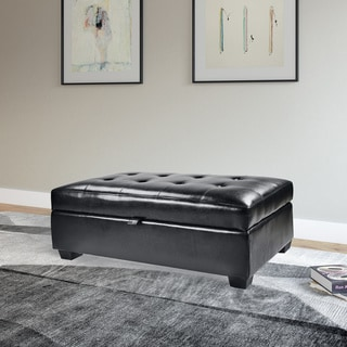 Christopher Knight Home York Bonded Leather Black Storage
