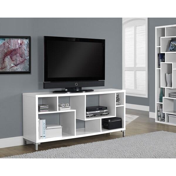 white hollow core 60 inch tv console. Black Bedroom Furniture Sets. Home Design Ideas