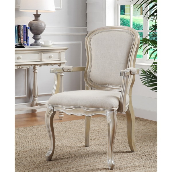 Ivory Living Room Furniture: Ivory Finish Accent Chair