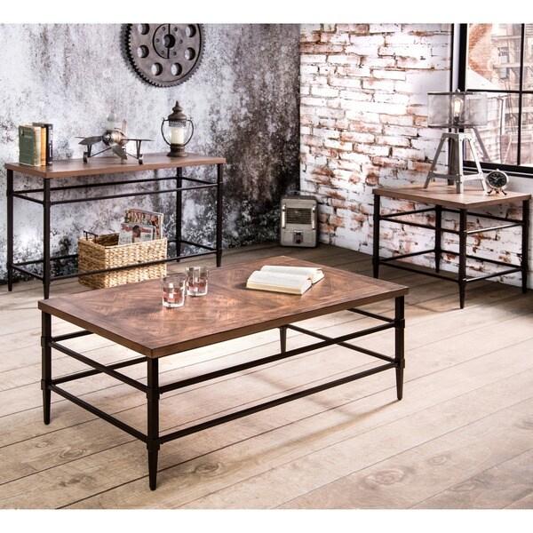 Furniture Of America Colegate Industrial 3-Piece Accent