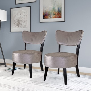 Barrister Blue Velvet Button Tufted Accent Chair