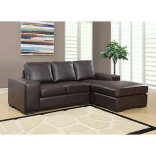 Tribecca Home Delphine Dark Brown Bonded Leather Sectional