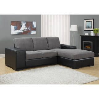 Charcoal Grey Bonded Leather Sofa Lounger 16862267