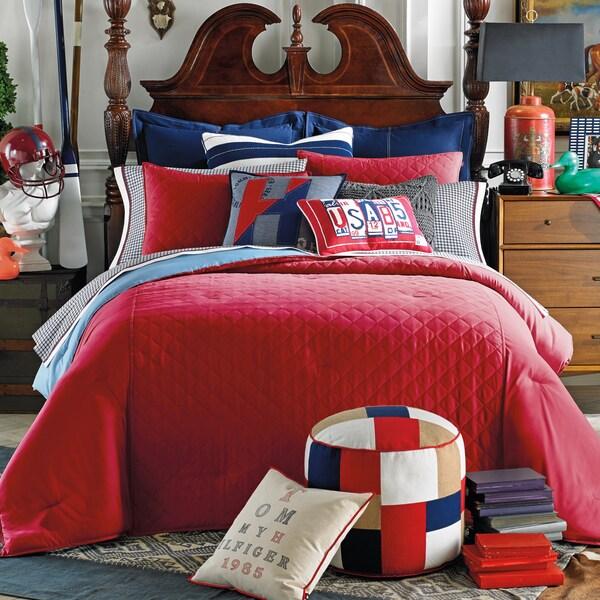 Tommy Hilfiger Prep Solid Nantucket Red Comforter