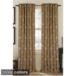 Eff Astoria Taupe Mushroom Faux Silk Jacquard Curtains