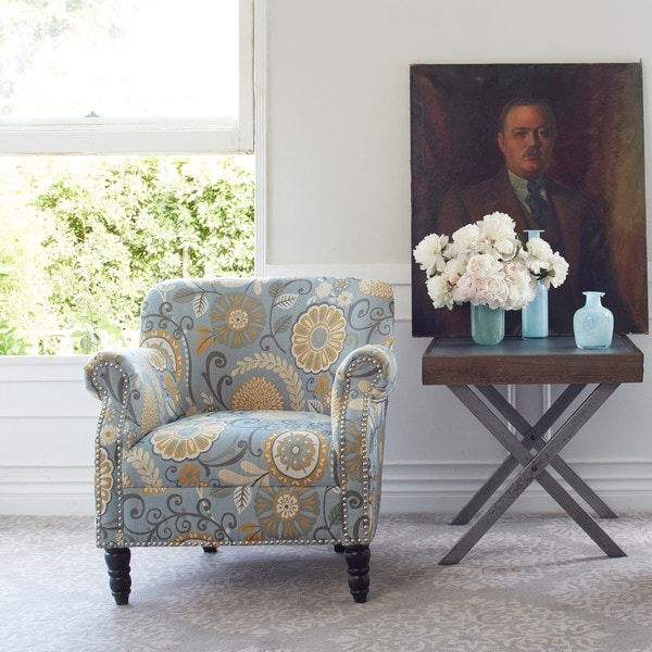Better Living Carissa Upholstered Autumn Grey Floral Arm