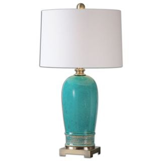 Uttermost Adalbern Teal Table Lamp 16895883 Overstock