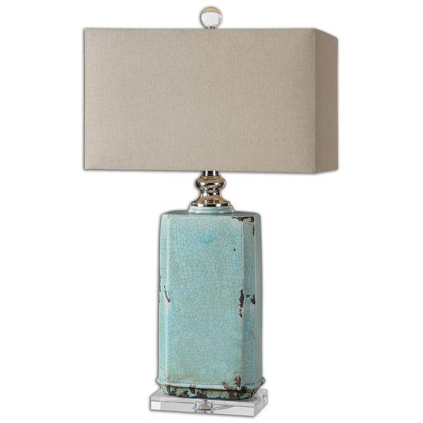 Discount Lamp: Uttermost Adalbern Teal Table Lamp