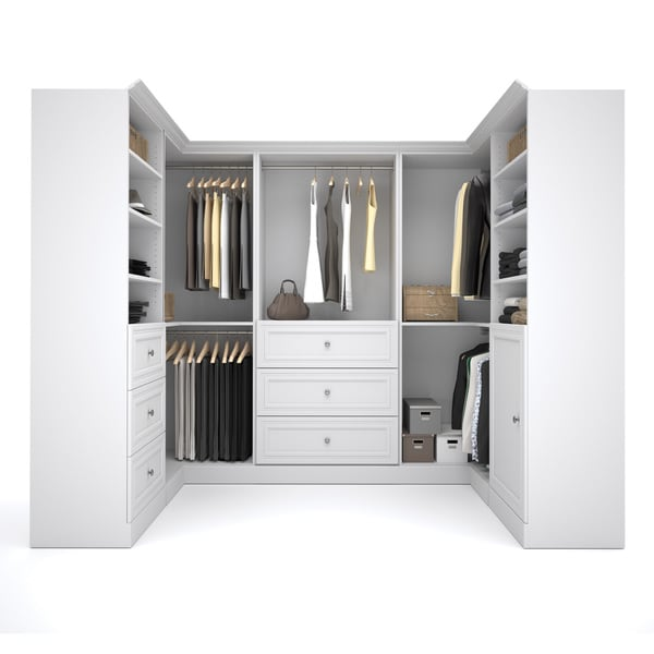 Versatile By Bestar 108 Inch Corner Closet Storage Kit